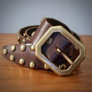 Vintage 70s Brown rocker belt